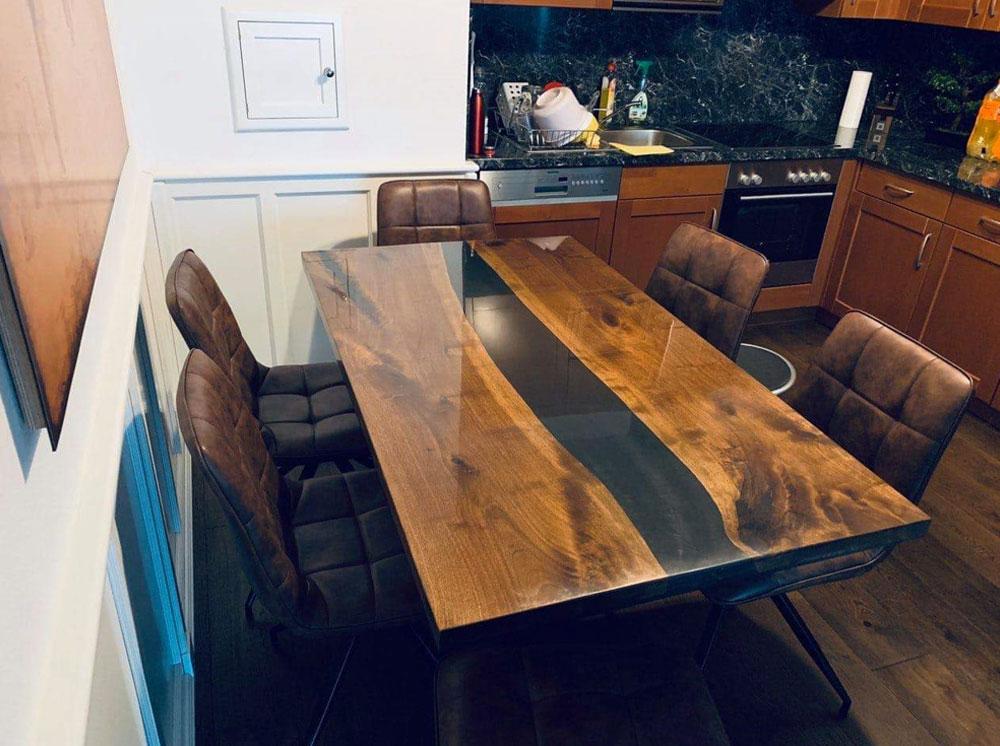 sto sa epoksi smolom, luksuzni trpezarijski stolovi, masivni stolovi, elegantni stolovi